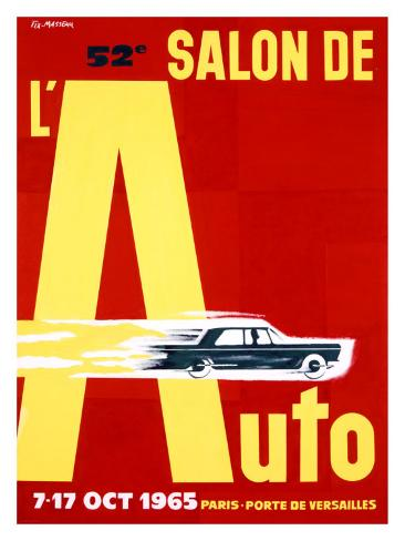 52nd Salon de l'Auto, 1965 Giclee Print