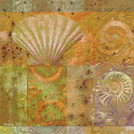 Seashell Collage Art Print