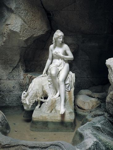 Nymph with a Goat, from the Laiterie de La Reine Giclee Print