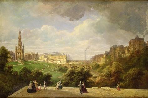 View of Edinburgh, the Walter Scott Monument Giclee Print