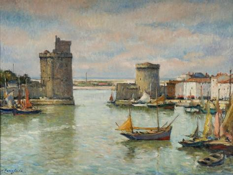 la ville de la rochelle giclee print by pierre langlade. Black Bedroom Furniture Sets. Home Design Ideas