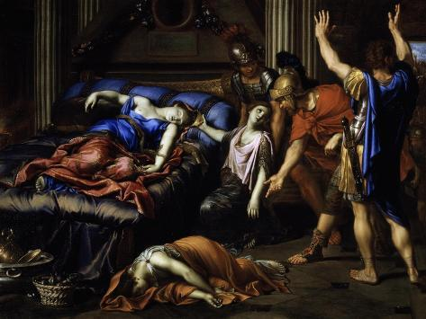 Death of Cleopatra Lámina giclée