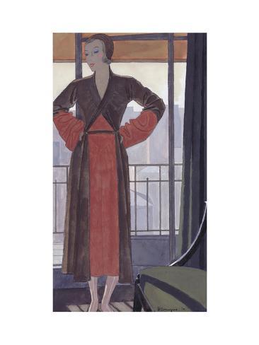 Vogue - February 1931 Stampa giclée premium