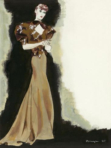 Vogue - March 1935 Stampa giclée premium