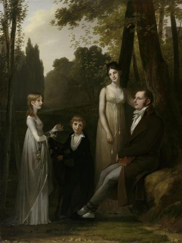 Portrait of Rutger Jan Schimmelpenninck and His Family Art Print
