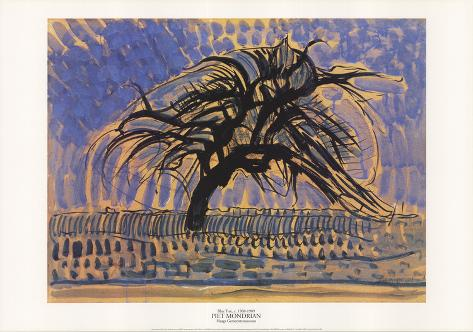 Blue Tree Impressão colecionável