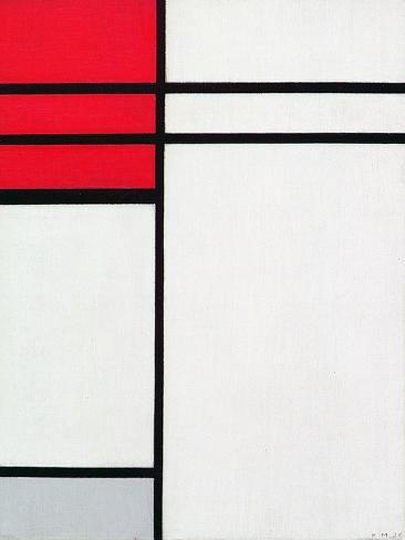 Composition (A) in Red and White, 1936 Giclée-vedos