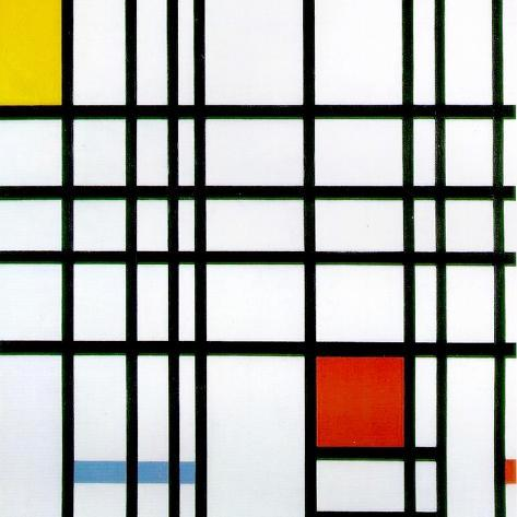 Composition with Red, Yellow and Blue, 1921 Giclée-vedos