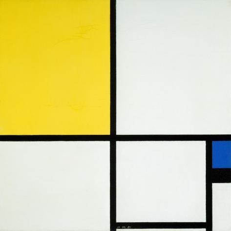 Komposition Mit Blau Und Gelb, 1931 Lámina giclée