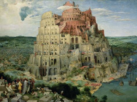 Baabelin torni, n. 1563 Giclée-vedos