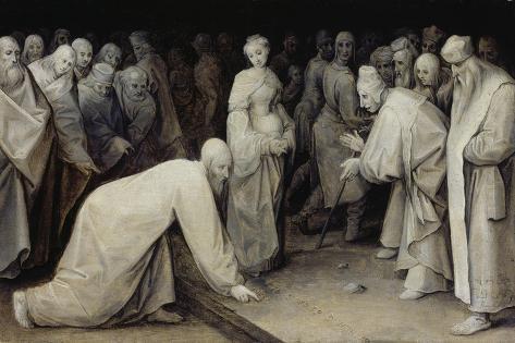 Christ and the Adulteress, 1565 Lámina giclée