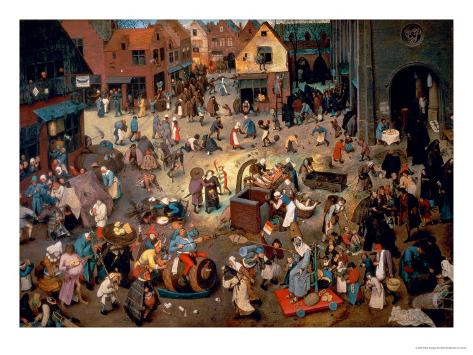Fight Between Carnival and Lent, 1559 Giclee Print