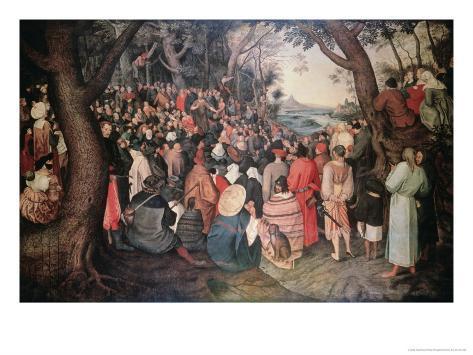 Preaching of Saint John the Baptist Giclee Print