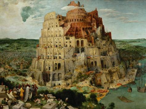The Tower of Babel, 1563 Giclée-vedos
