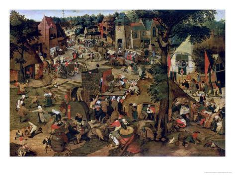 Fair with a Theatrical Performance, 1562 Giclee Print