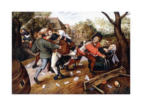 Peasants Brawling, 1619 Lámina giclée
