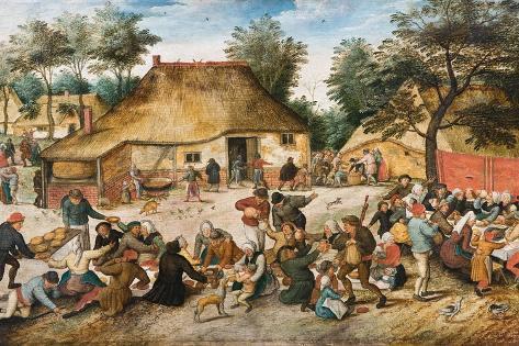 The Peasant Wedding Lámina giclée