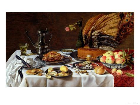 Still Life with a Peacock Pie, 1627 Giclee Print