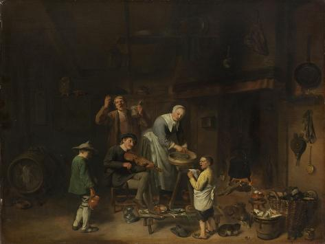 Peasant Family Singing, Pieter Jacobsz Duyfhuysen Art Print
