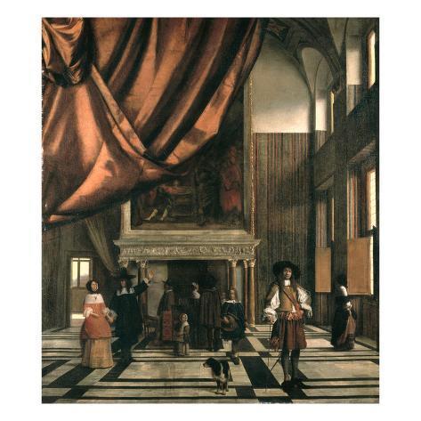 The Council Chamber of the Burgermasters Lámina giclée