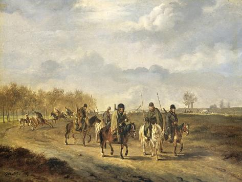 Cossacks on a Country Road Near Bergen in North Holland Art Print