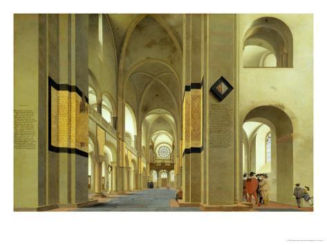 Interior of the Marienkirche in Utrecht, 1638 Lámina giclée