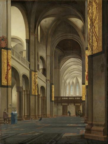 Nave and Choir of the Mariakerk in Utrecht Art Print