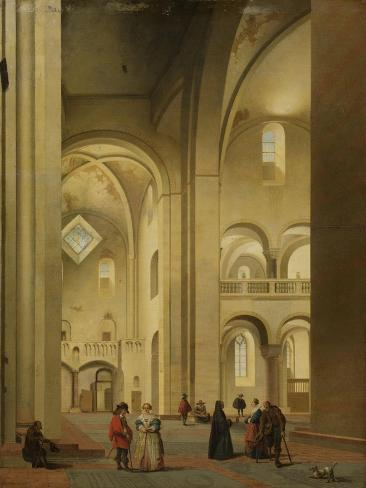 Transept of the Mariakerk in Utrecht Art Print