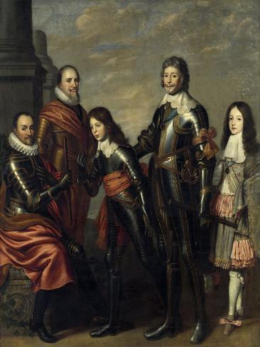 Four Generations of the Princes of Orange Art Print