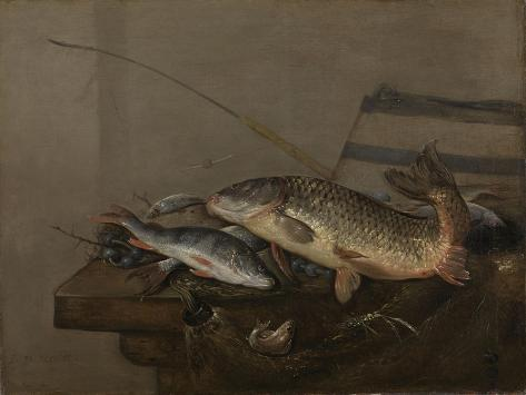 Still Life with Fish Art Print
