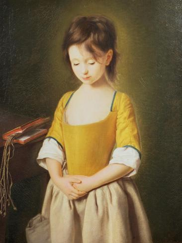 Portrait of a Young Girl, La Penitente Lámina giclée
