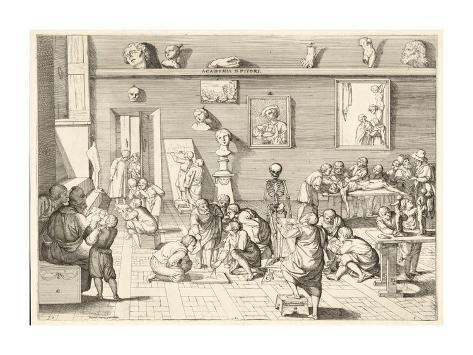 Academia d'pitori Art Print