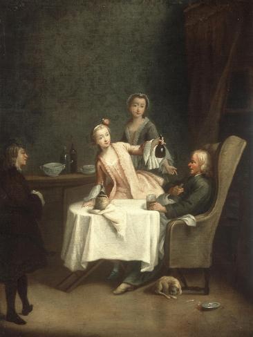 A Family Meal Lámina giclée
