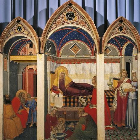 Triptych of the Nativity of the Virgin, 1342 Giclee Print