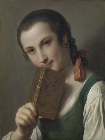 A Young Woman with a Book Art Print