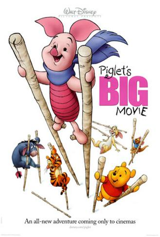Piglet's Big Movie Double-sided poster