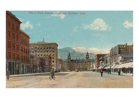 Pike's Peak Avenue, Colorado Springs, Colorado Art Print
