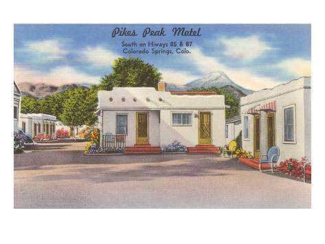 Pike's Peak Motel, Colorado Springs, Colorado Art Print