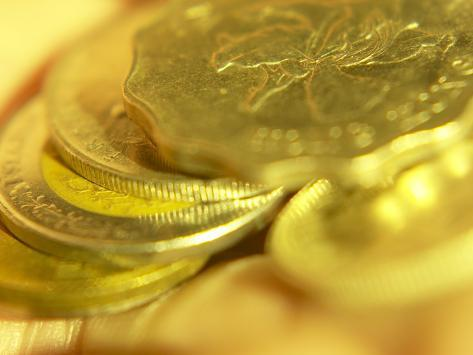 Pile of International Gold Coins Photographic Print