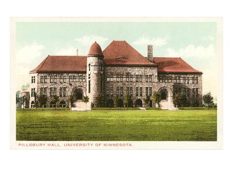 Pillsbury Hall, University of Minnesota Art Print