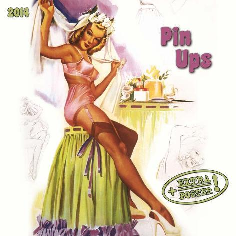 Pin Ups of the 50's - 2014 Calendar Calendars