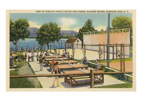 Ping Pong at Schroon Lake, New York State Art Print