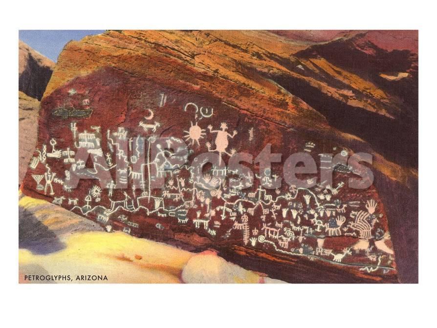Pinturas rupestres en el sudeste de la India Lámina giclée prémium ...