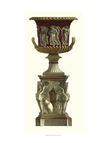 Piranesi Vase on Pedestal I Art Print