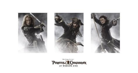 Pirates of the Caribbean: At World's End - Elizabeth, Jack, Will Art Print