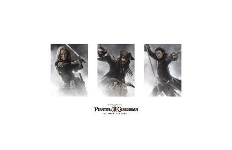 Pirates of the Caribbean: At World's End - Elizabeth, Jack, Will Giclee Print