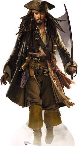 Pirates Of The Caribbean- Captain Jack Sparrow Cardboard Cutouts