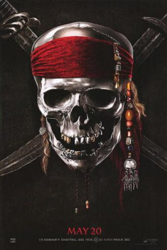 Pirates of the Caribbean: On Stranger Tides (Johnny Depp, Penelope Cruz, Geoffrey Rush) Movie Poster double face