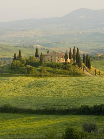 Country House, Il Belvedere, San Quirico D'Orcia, Val D'Orcia, Siena Province, Tuscany, Italy Photographic Print