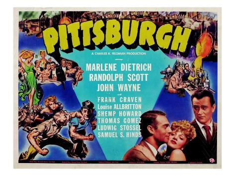 Pittsburgh, 1942 Stretched Canvas Print